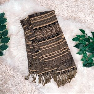 Brown & Gold Pashmina